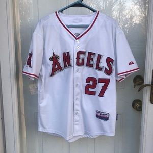 Majestic Authentic Los Angeles Angels Trout jersey